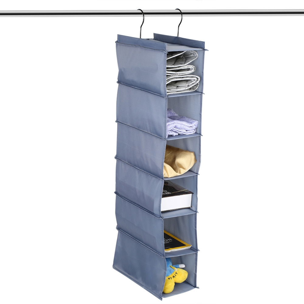 6 Tier Wardrobe Closet Hanging Shelf Shoes Clothes Garment Cosmetic Toys Organize Pockets Stationery Contain In Storage Bags From Home Garden On