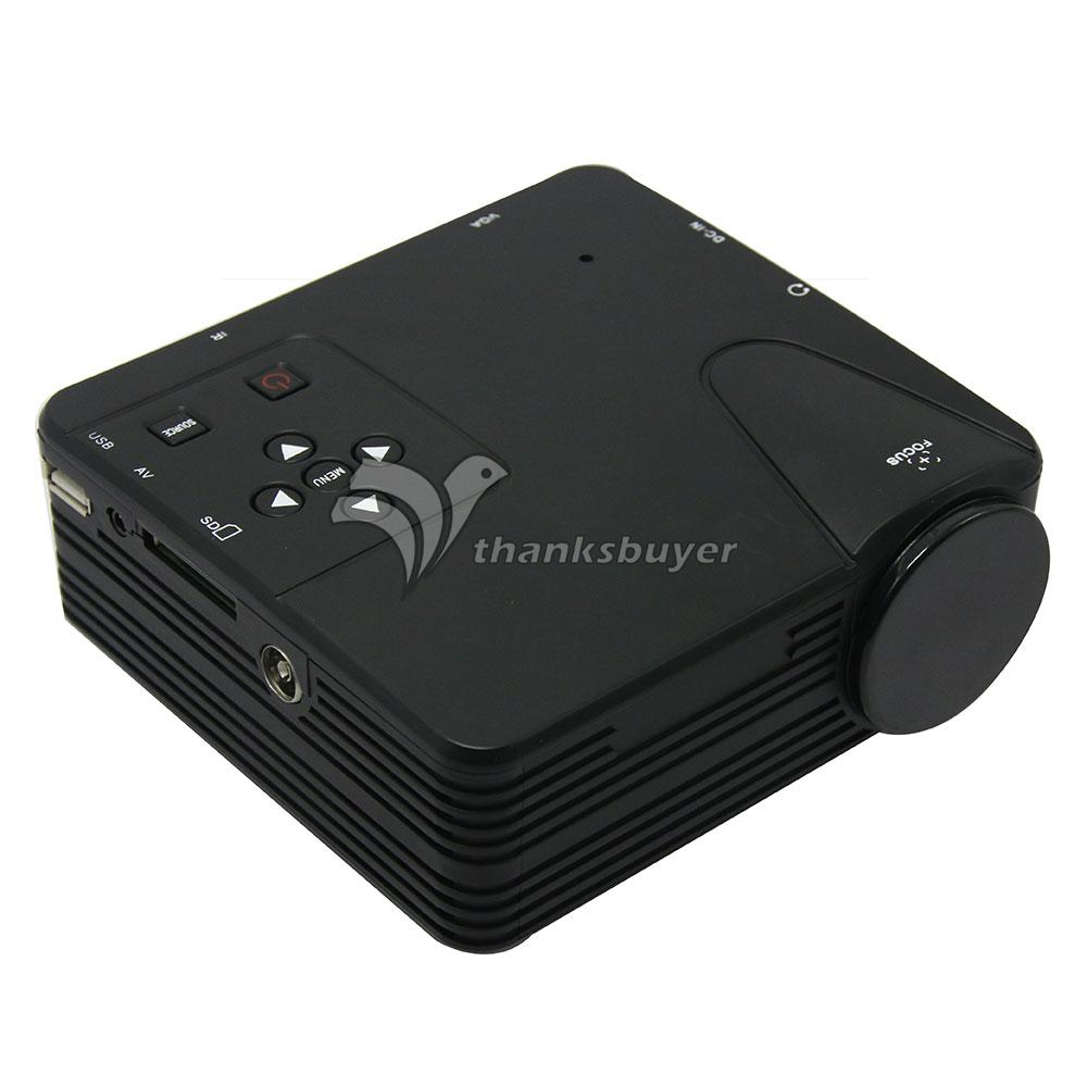 H100TV Mini Multimedia LED Projectors Home Cinema Projetor VGA/AV/USB/SD/HDMI/TV China Projector Black