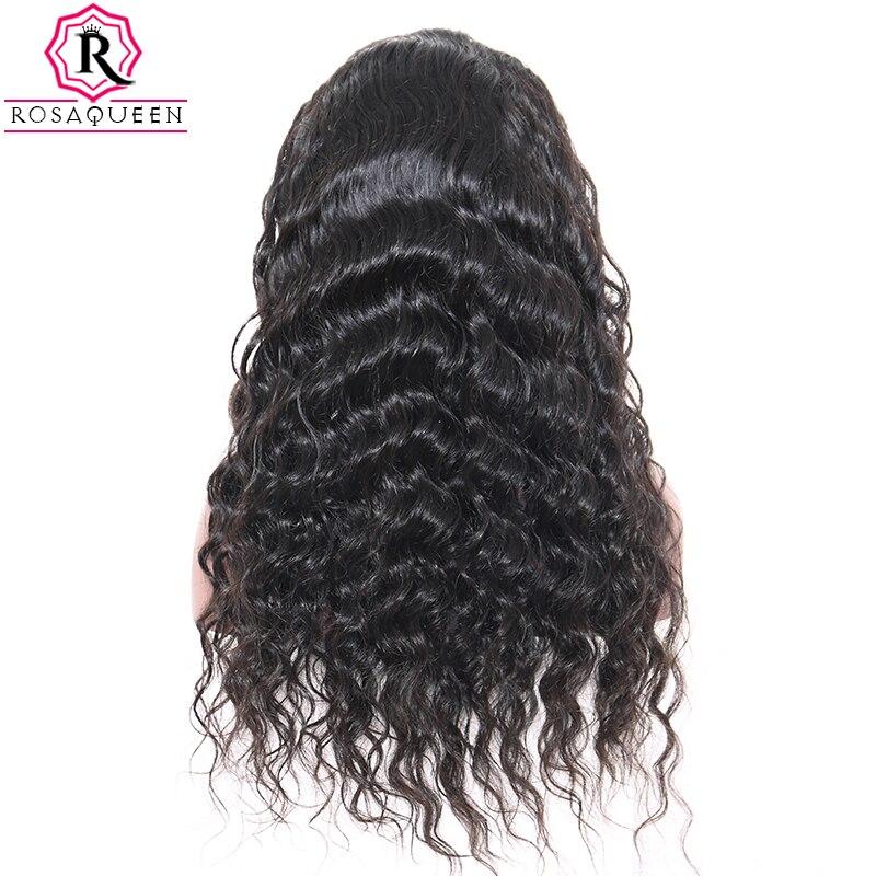 Полный шнурок человеческих волос парики свободная волна парик бразильский 130% плотность черный для Для женщин предварительно сорвал сперед...
