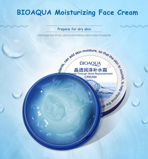 BIOAQUA Face Crystal Moisturizing Face Cream 38g Skin Care Lifting Firming Anti Wrinkle Whitening Hyaluronic Acid Cream