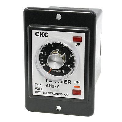 0-10 Minutes UP ON Indicator Lamp Time Timer Relay AC220V 2NO 1NC genuine taiwan research anv time relay ah2 yb ac220v