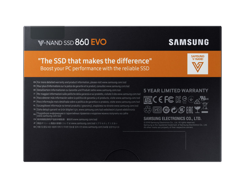 SAMSUNG Internal SSD 860 EVO 250GB Solid State Disk HD Hard Drive SATA 3 2.5 for Laptop Desktop SSD Disk 500G 1T 850EVO 120G 19