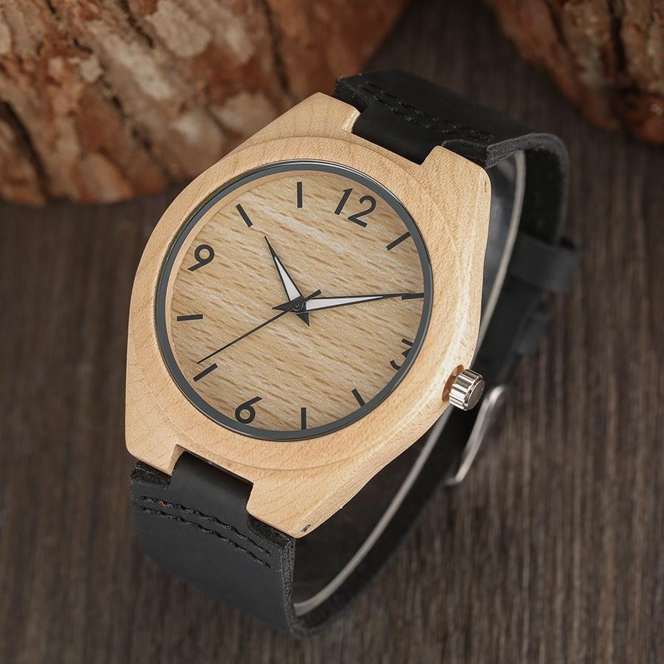 Creative Full Natural Wood Male Watches Handmade Bamboo Novel Fashion Men Women Wooden Bangle Quartz Wrist Watch Reloj de madera 2017 (56)