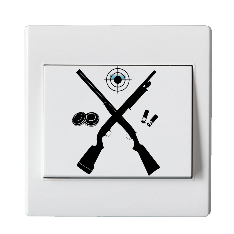 Target Shooter Gun Vinyl Wall Decal Light Switch Sticker 5WS0274 ...