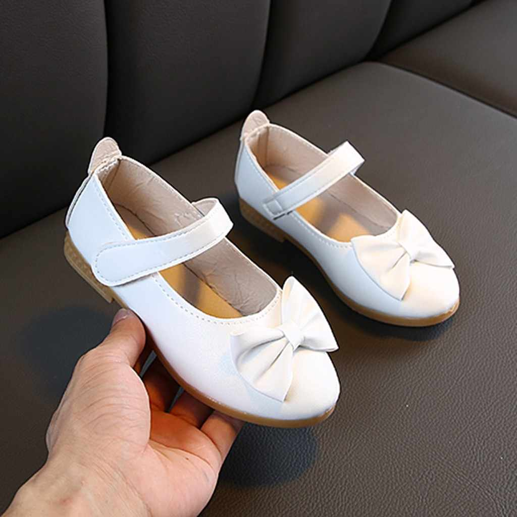 Children Infant baby girls shoes 2019 Solid Bowknot Single Princess Casual kids girls shoes slip on shoes for girls ballet shoes