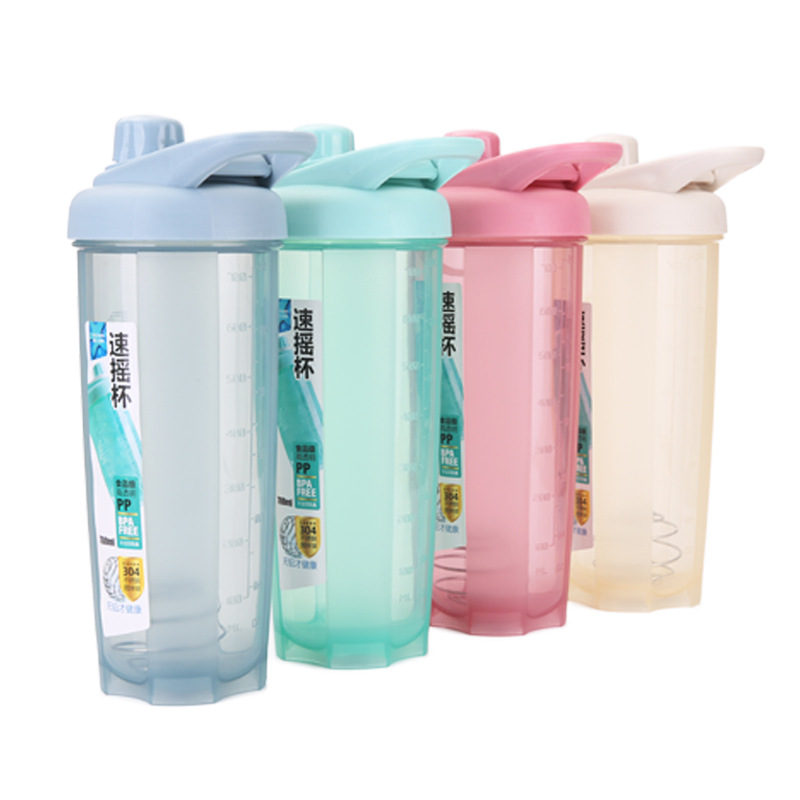 500ml/700ml Sports Nutrition Whey Protein Shaker Blender Mixer Sports Fitness Multifunct ...