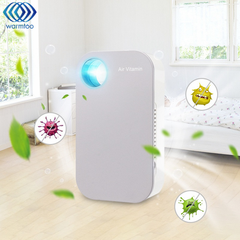 AC220V Mini Household Negative Ion Air Purifier Air Vitamin LED Night Light for Lighting and Air Cleaning at Sleep