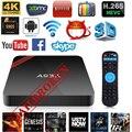 Smart tv caixa android nexbox a95x s905x amlogic 2 gb/16 gb quad-core 64bit 4 K * 2 K 2.4 GHz WiFi superior MX PRO M8S X96 Cheio carregado