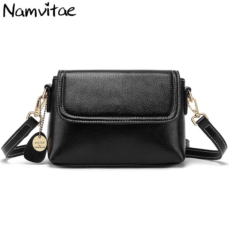 Namvitae Genuine Leather Women Shoulder Bag High Quality Ladies Crossbody Bag Fashion Single Strap Small Women Messenger Bags