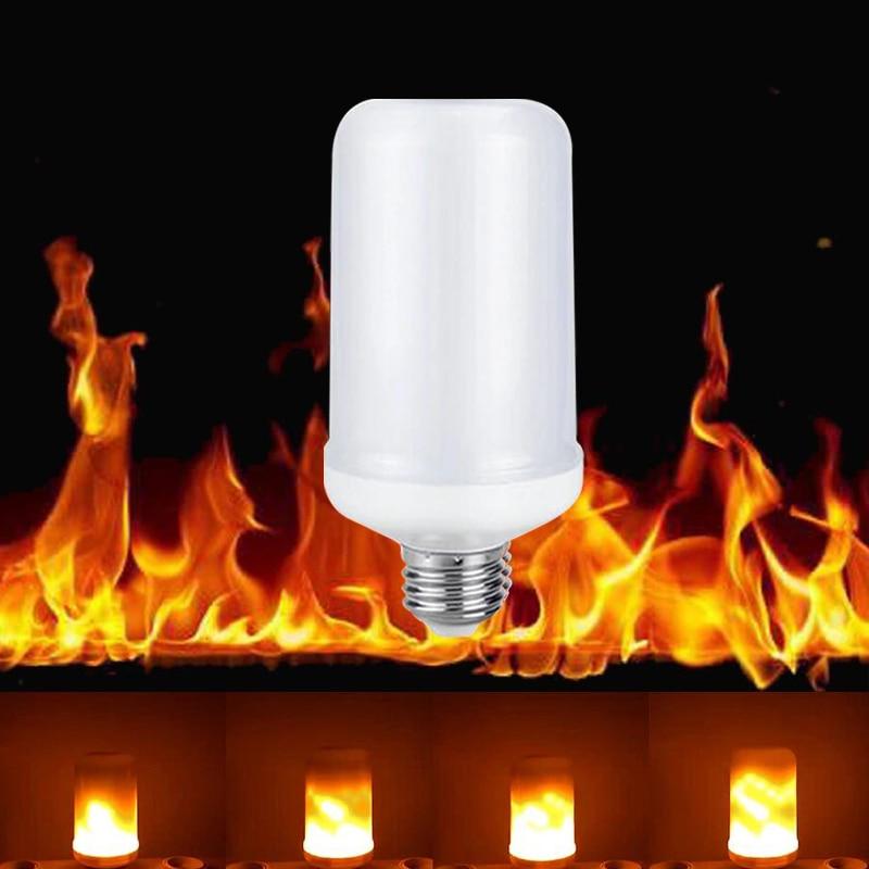 New E27 E26 2835SMD LED lamp Flame Effect Fire Light Bulbs 7W Flickering Emulation flame Lights 1900K-2200K AC85-265V