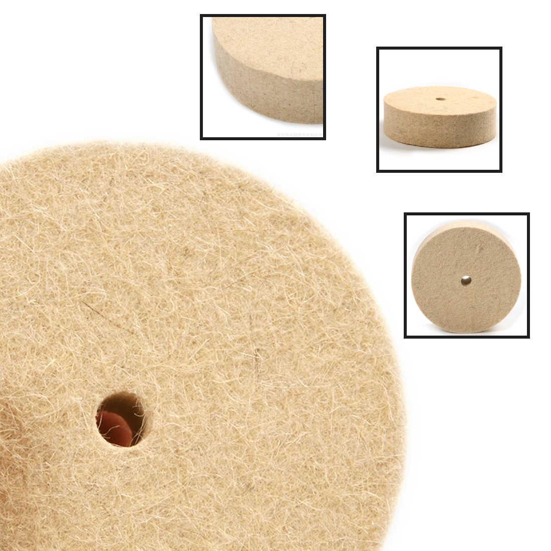 ZUZZEE 3 Inch Buffing Grinding Wheel Wool Felt Polishing Abrasive Disc For Metal Surface