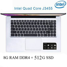 P2-16 8G RAM 512G SSD Intel Celeron J3455 Gaming laptop notebook computer keyboard and OS language available for choose