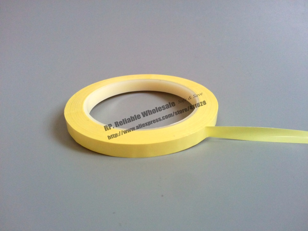 Yellow W=30mm L=66Meter, Single Side Glued Insulating Mylar Tape for capacitors, Packing size 65mm 66meter single sided glued insulating mylar tape for transformers fasten blue