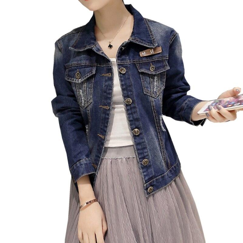 add new Női alapvető kabátok Őszi Farmerdzsekik Vintage Hosszú - Női ruházat