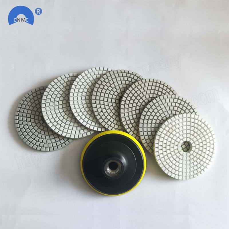 Diamond Polishing Pads 4 inch Wet//Dry  5mm Thick  Granite Concrete Marble Stone
