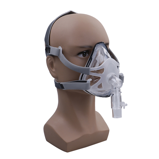 1 Set Size S M L Full Face Mask For CPAP Respirator Snoring Therapy Interface With Free Headgear