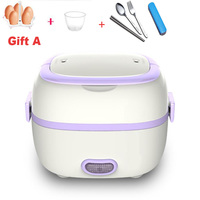 110V/220V Mini Electric Rice Cooker 1.2L  Multifunctional Lunch Box Portable Food Heating Steamer Heat Preservation Cooking Pot|Rice Cookers| |  -