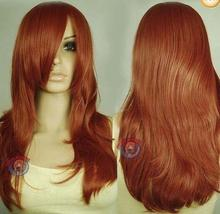 hot deal buy  100% brand new high quality fashion picture full lace wigs>>popular long red hair wig wigs for women