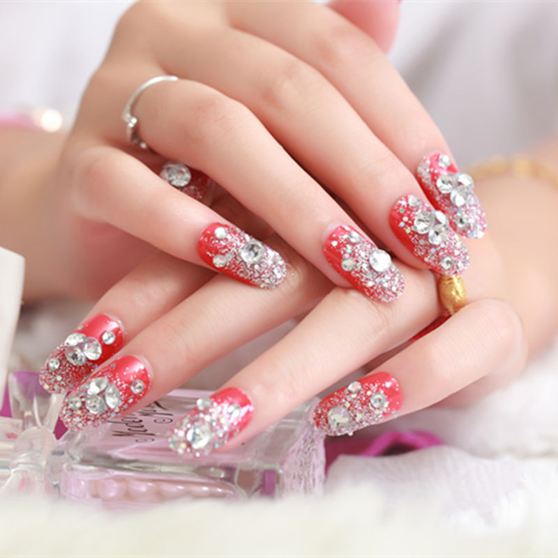 24pcs/set fashion 3D False Nails Decoration Professionall Women Fake ...