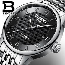 Швейцария БИНГЕР часы мужчины люксовый бренд сапфир водонепроницаемый плавать self-ветер автоматические механические Наручные Часы B-671-2