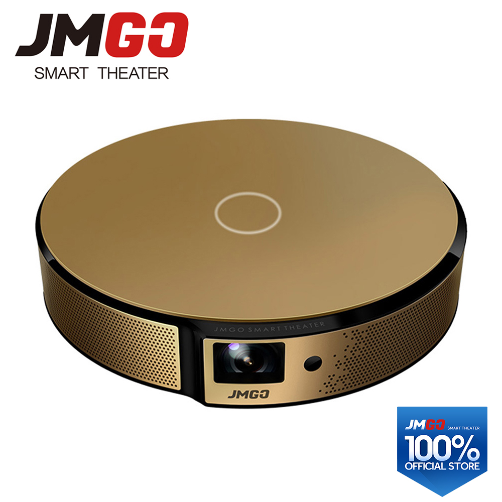 JMGO E8, Proiettore HD, 750 ANSI Lumen Intelligente Beamer, Built-In Android, WIFI, Bluetooth Speaker. HDMI, USB, Supporto 1080 p LED TV