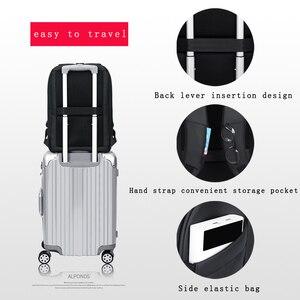 Image 3 - Homens Da Moda Mochila Multifuncional Bolsa Para Laptop À Prova D Água 15.6 Polegada Fenruien Carregamento USB Travel Bag Mulheres Mochila Casuais