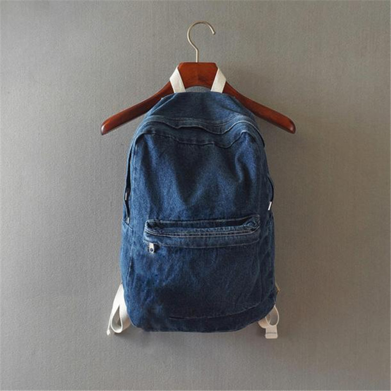 Backpacks Female Woman Man Mochila Feminina Teenage Boy Girls Washed Denim Rucksack Shoulder School Bag Travel Matching Backpack girsl kid backpack ladies boy shoulder school student bag teenagers fashion shoulder travel college rucksack mochila escolar new