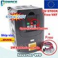 [EU/RU Dlivery] 4KW 220V oder 380V VFD Variable Frequency Drive Inverter 4HP 18A geschwindigkeit control & 2M Verlängerung kabel-in Wechselrichter & Konverter aus Heimwerkerbedarf bei