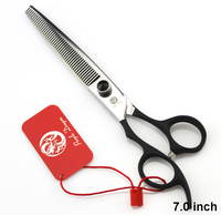 Professional Pet Scissors Left Handed Thinning Scissors Japan 440C Purple Dragon 7.0 inch Pet Dog Grooming Hair Cutting Shears