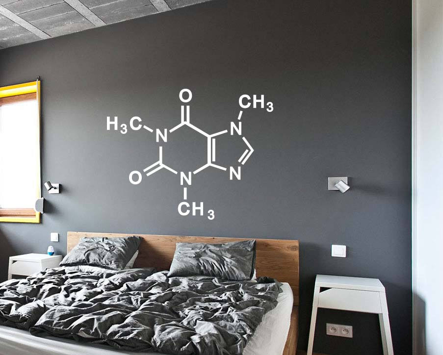 Wall Decal Art Home Decor Caffeine Molecule Periodic Table