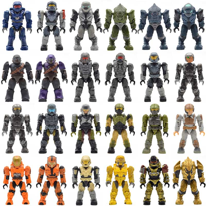 US $0 8 |Single Sale Halo Wars Warriors Monsters Humans Spartans Games  Covenants Guns Soldiers Building Blocks Bricks Toys for Children -in Blocks