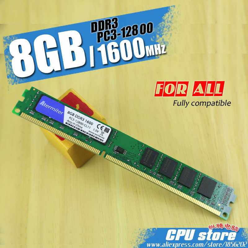 Atermiter памяти ПК Оперативная память модуль настольный компьютер DDR3 2 GB 4 GB 8 GB PC3 1333 1600 МГц, 1333 МГц, 1600 МГц 10600 12800 2G 4G Оперативная память