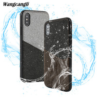 Wangcangli Customized leather canvas stitching card all inclusive mobile phone case for xiaomi mi mix2s shatter resistant shell