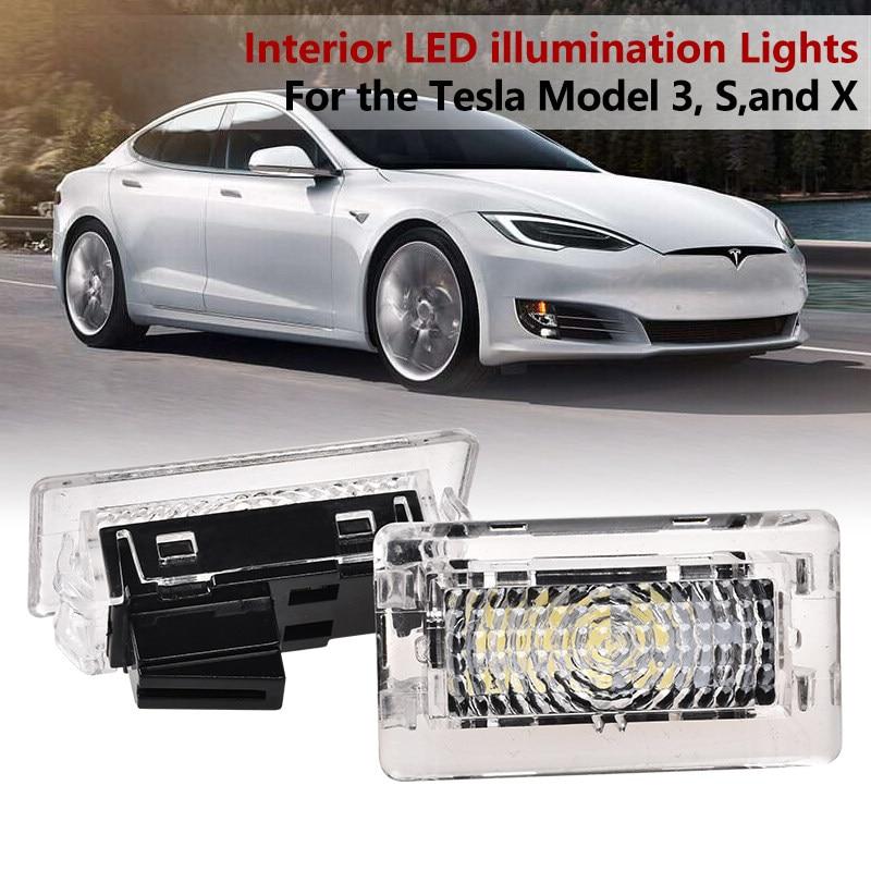 4pcs Upgrade LED Interior Light Bulbs For Tesla Model 3 Model S Model X  Easy Plug Replacement Indoor LED Light
