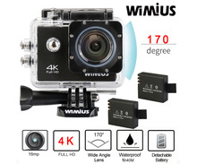 Wimius Wifi 4K/30fps Action Camera Full HD 1080P/60fps Video Sports Mini Helmet Cam Go 40M Waterproof Pro Car DVR DV+ Accesories