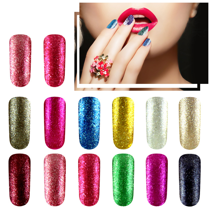 Fituresux Latest New Shiny Neon Lamp Uv Lucky Gel Polish Diy Nail Art Set Candy Color Gel Shining Glitter Lacquer Paint Varnish Nails Art & Tools