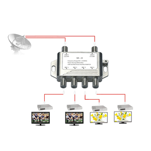 Image 4 - 2x4 DiSEqC Satellite Stand Alone MultiSwitch FTA TV LNB Switch Cascade 2 in 4 multiswitch 2 LNB 4 REC  For DVB S2 and DVB T2
