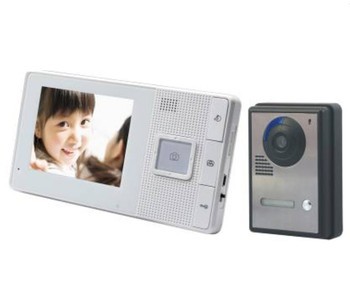 4 Inch Color LCD Monitor Wireless Intercom Video Doorphone