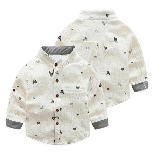 3980945d3b73 2017 nueva llegada del bebé Niños camisa cuello mao manga larga causal  camisa para niño primavera