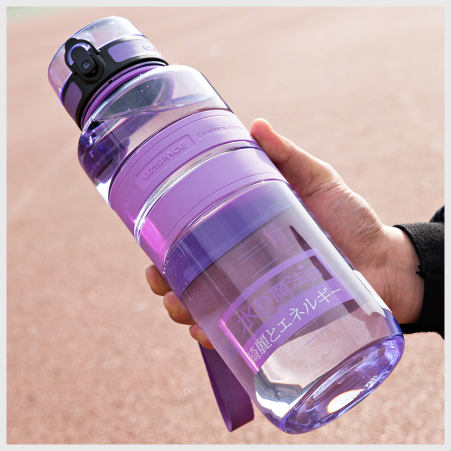 UZSPACE 1500ml Water Bottles Negative ion Care Portable Outdoor Sports Travel Hiking Drink Kettle Eco friendly Tritan(bpa Free)|bpa free|water bottlewater bottle sales - AliExpress