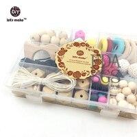 Hãy Làm cho Cảm Giác Teethers Tự Nhiên Đồ Chơi Đặt Bé Waldorf Montessori Toy Đặt Trẻ Sơ Sinh Đồ Chơi Thiết Lập Tất Cả Gỗ Tự Nhiên Silicone Bead