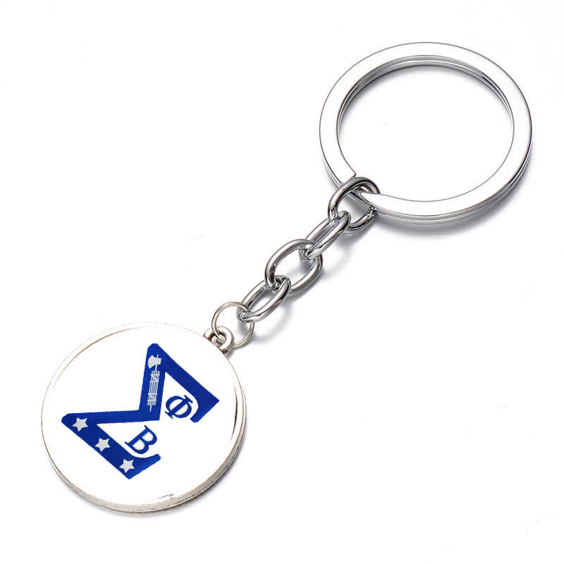 ... SONGDA Unique Phi Beta Sigma Greek Letters Keychain Picture 3D Effect Glass Gem Pendant Key Holder ...