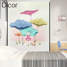 Fairy Heidi Dicor Brand Cartoon Art Window Sticker For Living Room Bedroom Bathroom Glass Door Advanced PVC Opaque Frosted Films