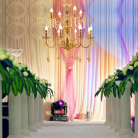 electroplating crystal, chandelier booth, decorative ceiling, wedding props wedding iron art
