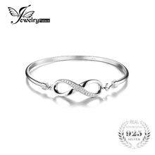 Jewelrypalace siempre amor infinito cubic zirconia aniversario pure 925 joyas de plata brazalete pulsera pulsera de la boda