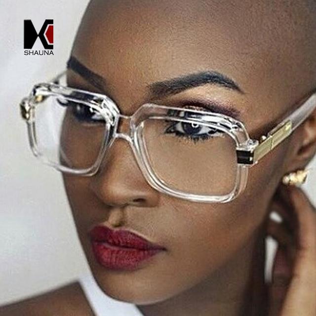 6b819f9123936 SHAUNA Populares Das Mulheres de Tamanho Grande Gradiente Quadro Quadrado  Óculos De Sol de Marca Designer