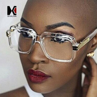 SHAUNA Popular Oversize Women Square Sunglasses Brand Designer Fashion Men Transparent Frame Gradient Clear Lens Glasses