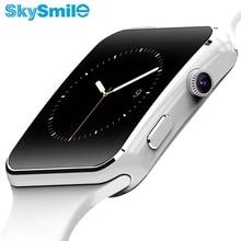 SkySmile Bluetooth Reloj Inteligente E6 Reloj Mensaje Recordatorio anti-perdida Smartwatch Sincronización de Notificación Con Ayuda de La Cámara DEL TF SIM