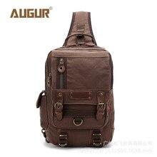AUGUR Vintage Men Chest Pack Bag Canvas Crossbody Bag Luxury Brand Men Messenger Bags High Quality Shoulder Bags for Men