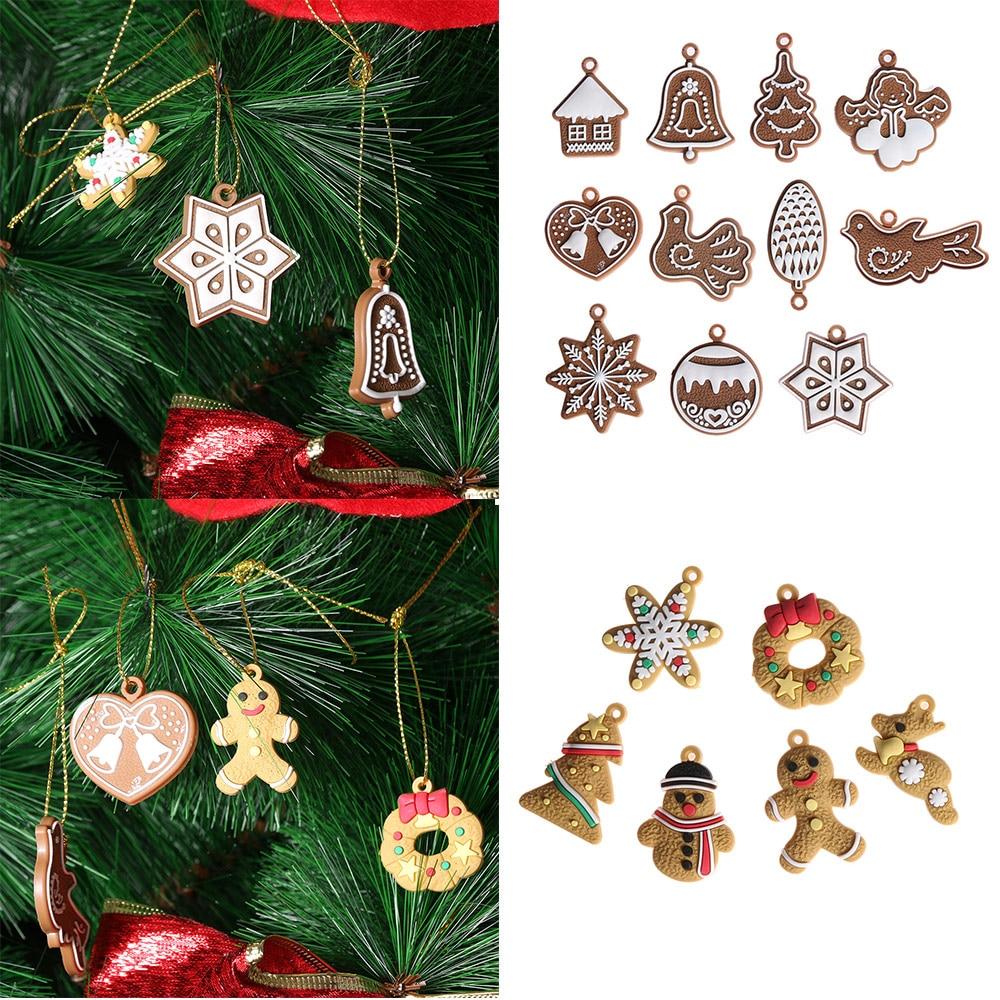 Cool Snowman Decoration Ornaments For Christmas Tree: 6/11Pcs Creative Gingerbread Man Christmas Ornaments Deer